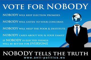 Vote nobody 1
