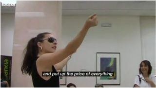 Flamenco bank flash mob