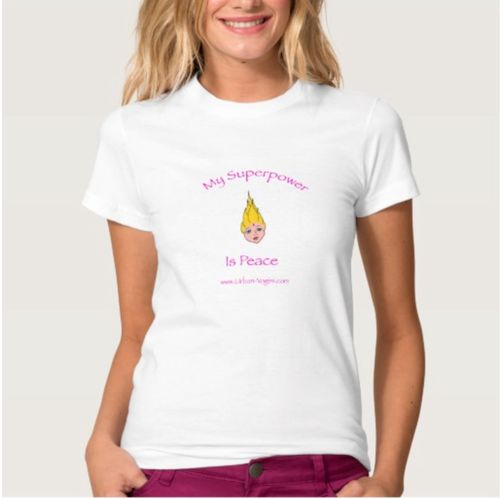 Zazzle pink yogini T 1