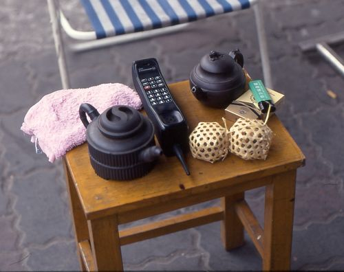 Tea and cell phone