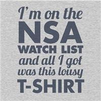NSA lousy shirt