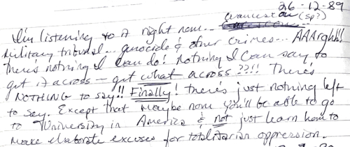 1989 diary entry trimmed small