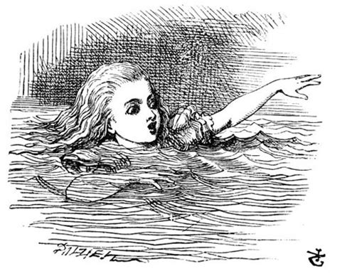 Alice swimming in tears