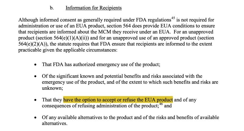 Screenshot 1 from FDA et al EU guidance