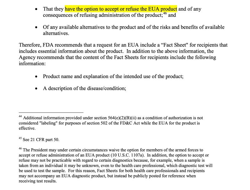 Screenshot 2 from FDA et al EU guidance